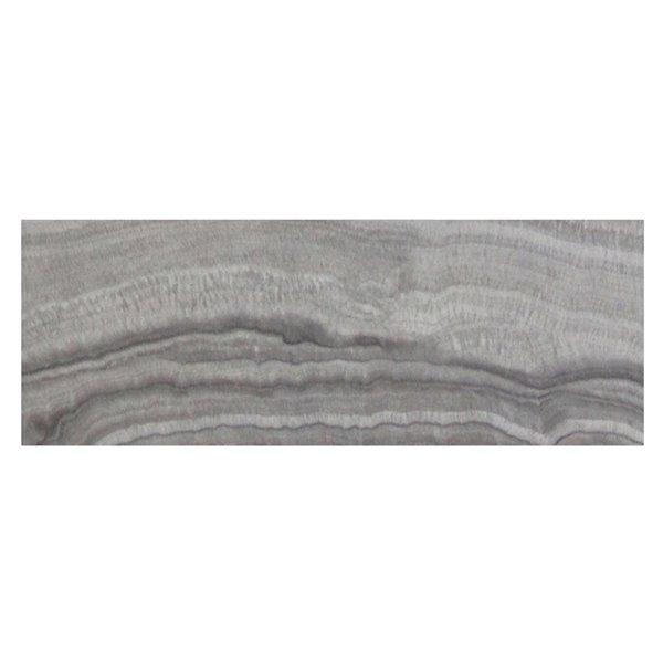 Table de salon !nspire contemporaine en simili-marbre gris, 15.75 po x 42.25 po x 30.25 po