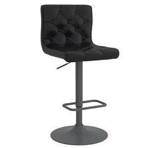 WHI Dex Modern Upholstered Air Lift Stool - Black - Set of 2