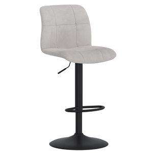 !nspire Tigo Modern Upholstered Air Lift Stool - Gray - Set of 2