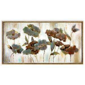 Toile décorative murale en fleurs Gild Design House, cadre et feuilles or, 42 po x 62 po