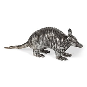 Gild Design House Anthony Decorative Armadillo - Silver - 18-in x 5-in x 6-in