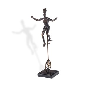 Sculpture monocycle décoratif Gild Design House, bronze antique, 7 po x 4 po x 16 po