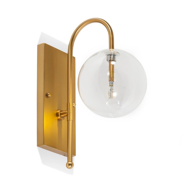Gild Design House Olveen Wall Sconce - Gold - 10-in x 14-in x 6-in