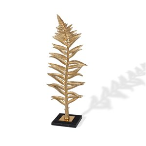 Gild Design House Gilded Fern I Leaf Sculpture - Gold - 6-in x 10-in x 25-in H
