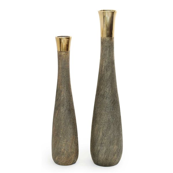 Gild Design House Castle Ceramic Floor Vase - Small - Gold - 39-in