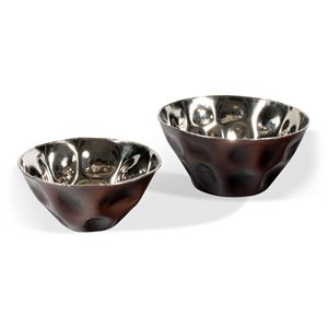 Gild Design House Maurice Bowls - Bronze and Silver - Set of 2