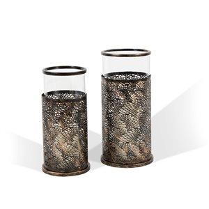 Chandeliers Alessandra Gild Design house, bronze, ens. de 2