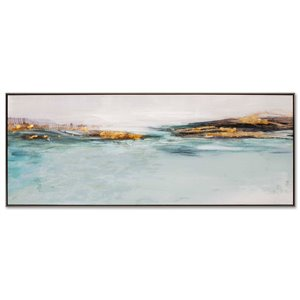 Gild Design House Morning Rise Wall Art - Abstract - Blue and Black - 73-in x 29-in