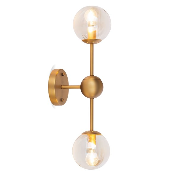 Gild Design House Alvar Wall Sconce - Gold - 8-in x 22-in x 5-in