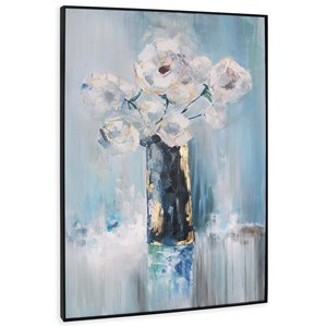 Gild Design House Arrangement Wall Art - Blue Flowers - 62-in x 42-in