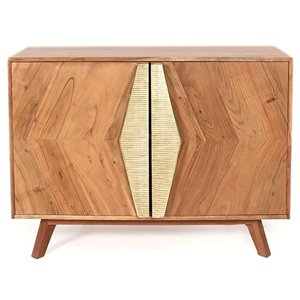 Armoire d'appoint Kristina Gild Design House en bois d'acacia, 30 po x 35 po