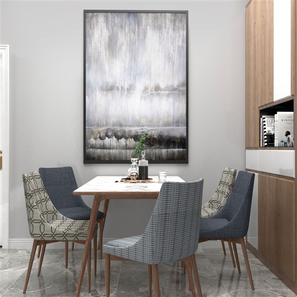 Gild Design House Fogged Wall Art - Gray/Siklver/Black - 62-in x 42-in