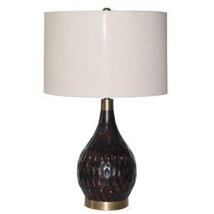 Lampe de table Gild Design House Danar, bronze et blanche, 24 po