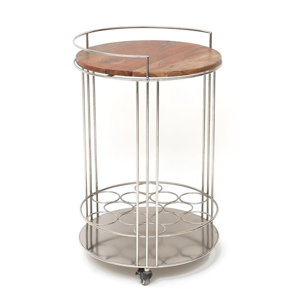 Gild Design House Maddox Bar Cart - Brown and Silver