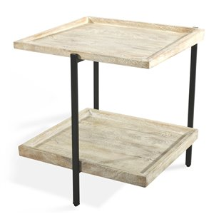Gild Design House Taylor Side Table - Black and White Wash