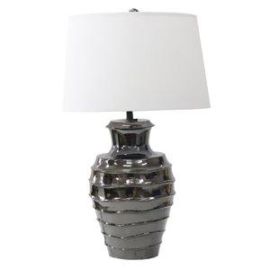 Lampe de table Gild Design House Omega, abat-jour blanc, 26 po