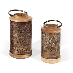Chandeliers lanternes Alessandra Gild Design house, bronze, ens. de 2