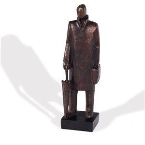 Sculpture décoractive d'un homme Wearisome Gild Design House, bronze antique