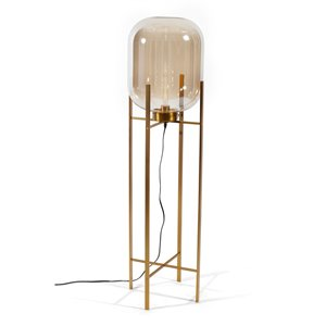 Gild Design House Edam Floor Lamp - Gold and Amber - 54-in