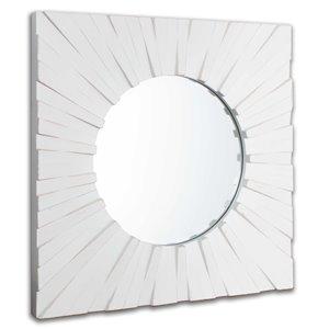 miroir en bois Gild Design House Tallulah, blanc, 18 po x 30 po