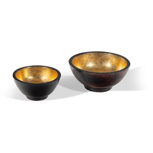 Gild Design House Emilio Bowls - Brown and Gold - Set of 2