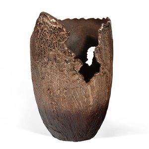 Vase décoratif Terra Gild Design House, bronze, 17 po x 11 po x 9 po
