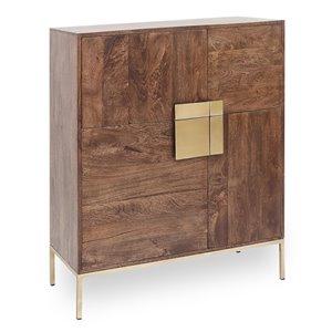 Armoire d'appoint Teagan Gild Design House en bois de manguier, 46 po x 39 po