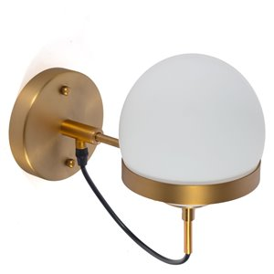 Gild Design House Luther Wall Sconce - Gold - 11-in x 9-in x 6-in