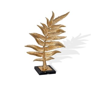 Gild Design House Gilded Fern II Leaf Sculpture - Gold - 12-in x 5-in x 17-in H