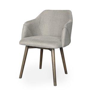 Chaise de salle à manger Gild Design House Dalton, brune et grise