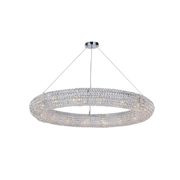 CWI Lighting Veronique 16-Light Chandelier with Chrome Finish - 28-in x 5-in