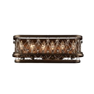 CWI Lighting Tieda 6-Light Wall Sconce with Speckled Bronze Finish