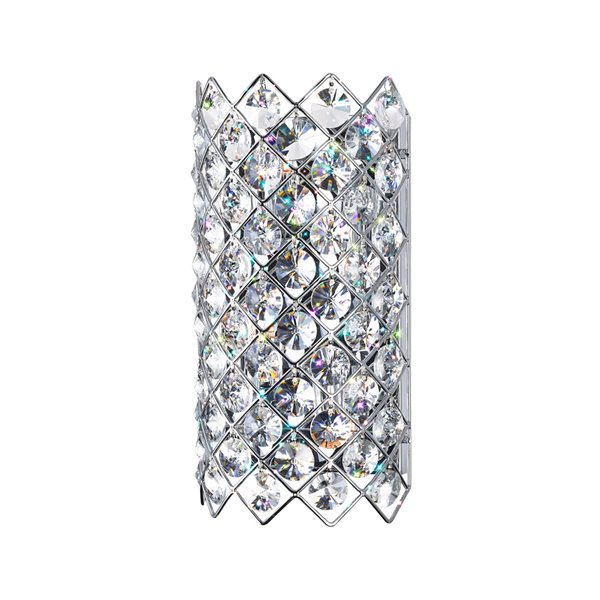 CWI Lighting Chique Glam Wall Sconce - 4-Light - Chrome