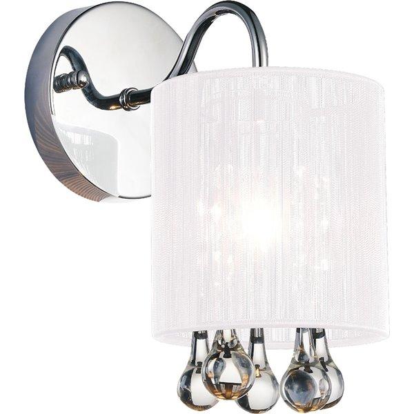 CWI Lighting Water Drop Bathroom Wall Sconce - 1-Light - Chrome