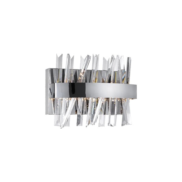 CWI Lighting Faye LED Wall Sconce with Chrome Finish - 12-in