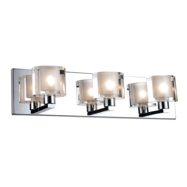 CWI Lighting Tina 3-Light Wall Sconce with Chrome Finish