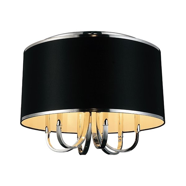 CWI Lighting Orchid 6-Light Drum Shade Flush-Mount Light with Chrome Finish