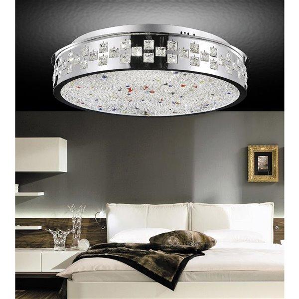 CWI Lighting Cinderella 8-Light Drum Shade Flush-Mount Light with Chrome Finish