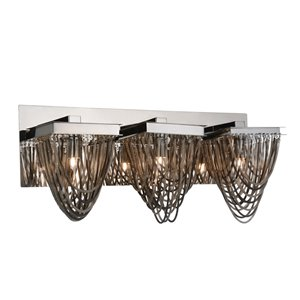 CWI Lighting Isla 3-Light Vanity Light with Chrome Finish