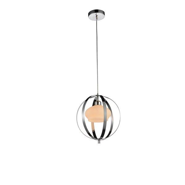 CWI Lighting Dahlia Mini Pendant Light - 1-Light - Chrome - 12-in