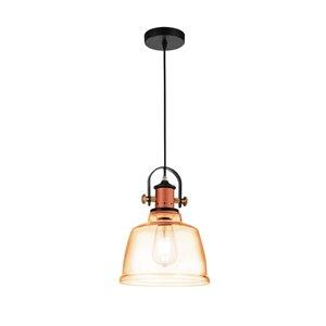 CWI Lighting Tower Bell Pendant Light - 1-Light - Cognac