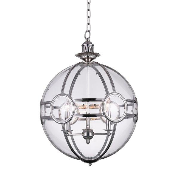 CWI Lighting Beas Pendant Light - 3-Light - Chrome - 14-in