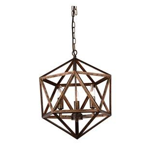 CWI Lighting Amazon Pendant Light - 4-Light - Antique Forged Copper