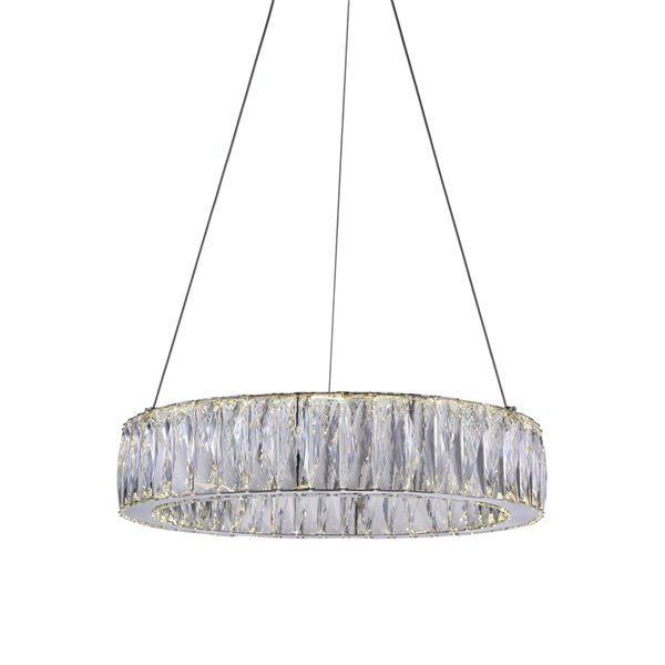 CWI Lighting Juno LED  Chandelier with Chrome finish - 32-in x 5-in