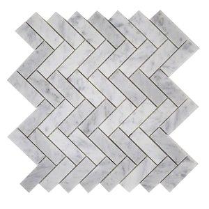 Tuile marbre Mono Serra 12 po x 12 po  Chevron Mosaique 10 pi2 / boite (10mcx / boite)