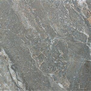 Tuile céramique Mono Serra 13.4 po x 13.4 po  Prisma Foncer 14.95 pi2 / boite (12 mcx / boite)