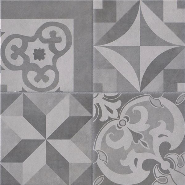 Mono Serra Ceramic Tile 13.4-in x 13.4-in Cementina Grigio 14.95 sq.ft. / case (12 pcs / case)