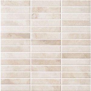 Mono Serra Ceramic Tile 13.4-in x 13.4-in Tevere Mosaic 17.43 sq.ft. / case (14 pcs / case)