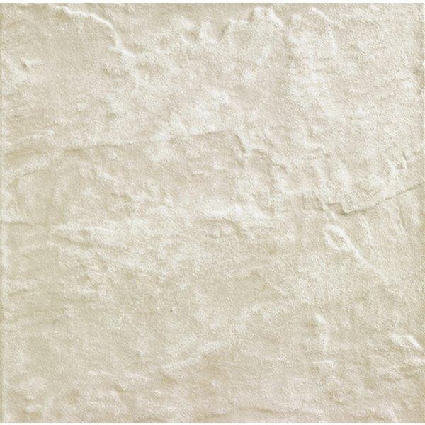 Tuile porcelaine Mono Serra 12 po x 12 po Ardesia Blanc 20 pi2  / boite (20 mcx / boite)