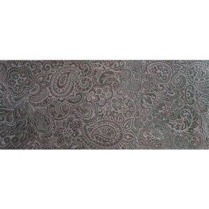 Tuile céramique Mono Serra 8 po x 20 po Cachemira Brun 10.76 pi2 (10 mcx / boite)